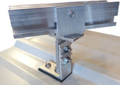 Adjustable Anchor for corrugated roofs with a U Bracket.