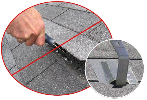 Do not ever break another shingle