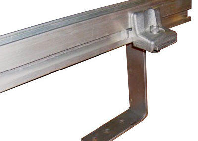 Horizontal Roof Mount Anchor with Rail Clamp